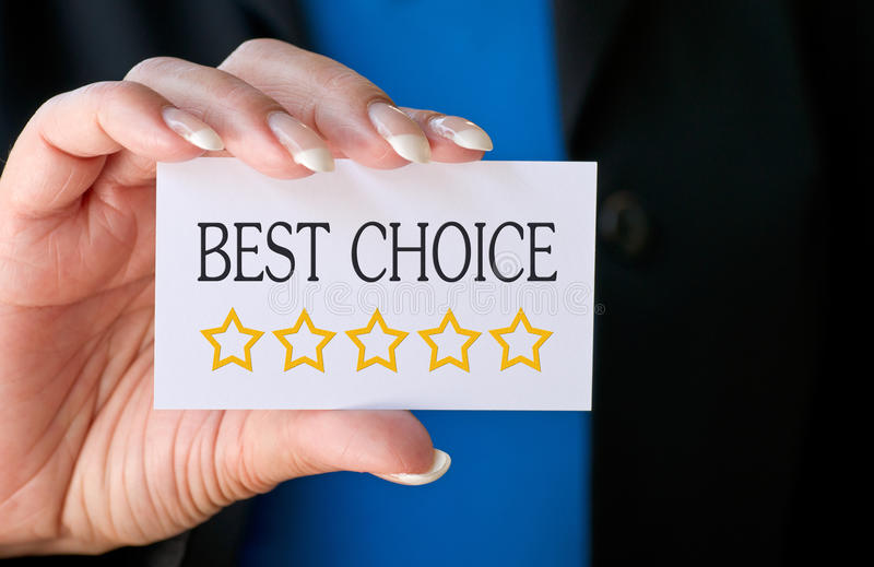 Best choice card royalty free stock photo