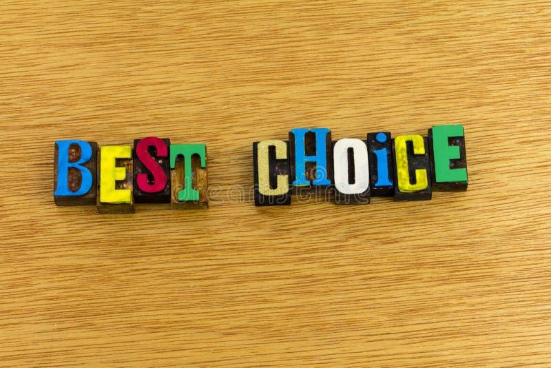 Best choice good better decision stock photo