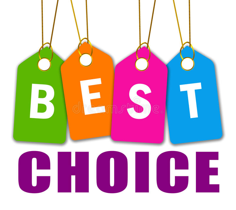 Best choice icon stock illustration