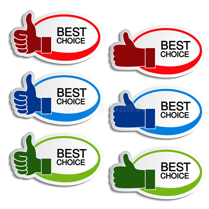 Download Best Choice Oval Stickers With Gesture Hand Stock Vector - Illustration of offer, element: 34363888