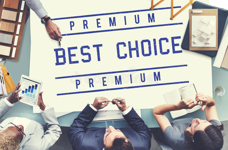 Best Choice Seller Award Finest Certificate Graphic Concept royalty free stock photography