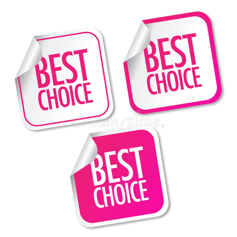 Best choice stickers stock illustration