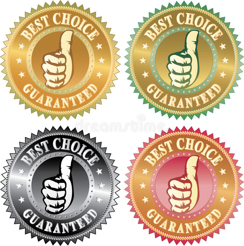 Download Best choice thumb stock vector. Illustration of commitment - 12988449