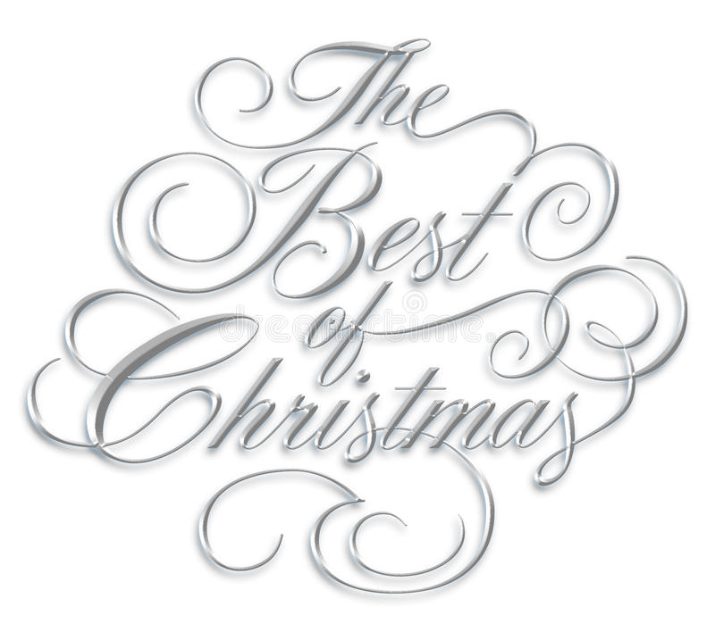 Best of Christmas Script royalty free stock photo