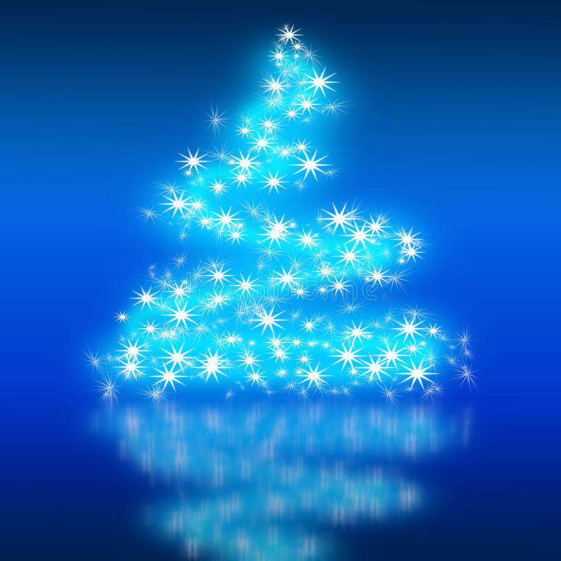 The best christmas tree background with reflection stock