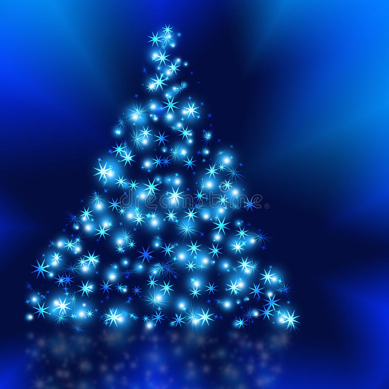 Download The Best Christmas Tree Background With Reflection Stock Illustration - Image: 10999589