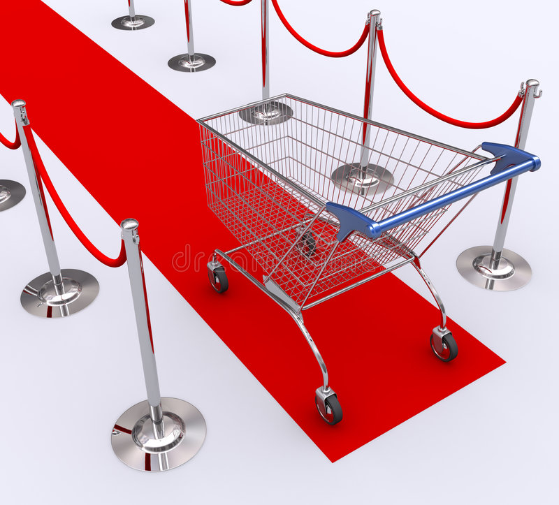 Best Client. Red carpet for the best client. Concept of good customer