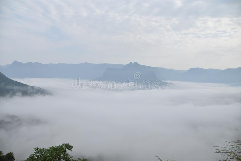 The Day in Fog @Raigad royalty free stock images