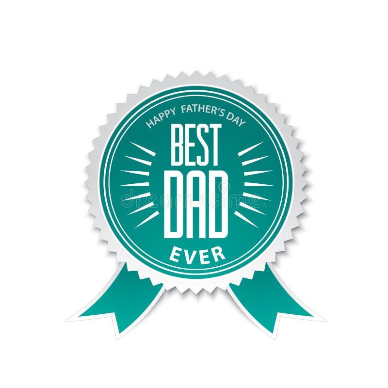 Best dad award ribbon rosette stock illustration
