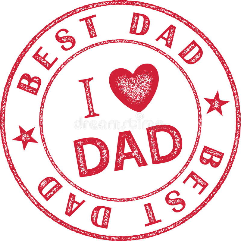 Best Dad Stamp graphic themed for Father`s Day. Celebration vector illustration