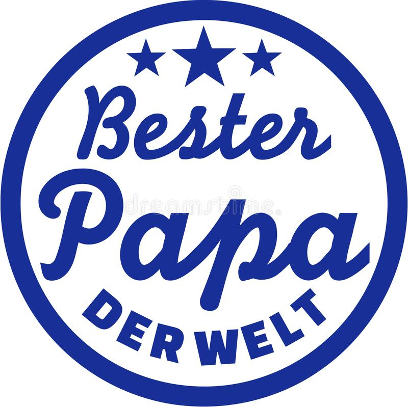 Best Dad of the world German. Vector stock illustration