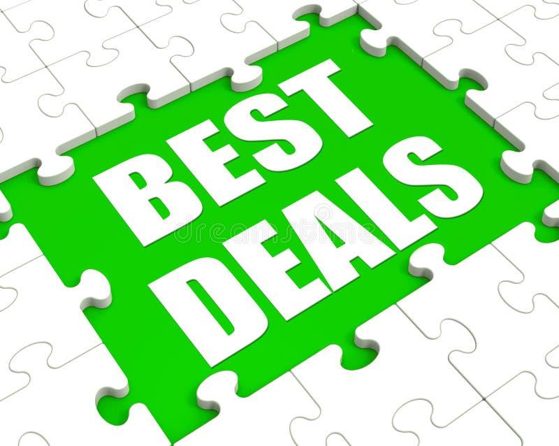 Best Deals Puzzle Shows Great Deal Promotion Or Bargain. Best Deals Puzzle Showing Great Deal Promotion Or Bargain stock illustration