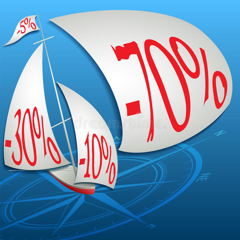 The best discounts in the ocean of prices. Format vector illustration
