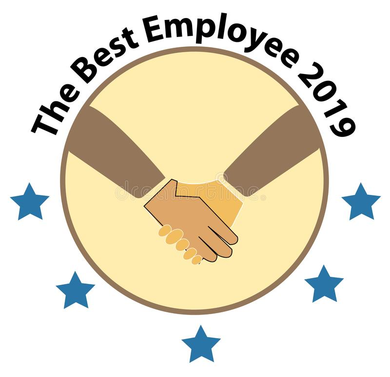 The Best Employee 2019 logo. The Best Employee icon on white background. royalty free illustration