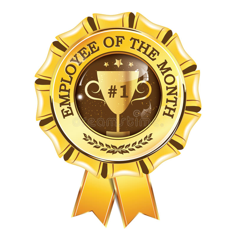 download best employee of the month award hanging ribbon stock illustration illustration of sign