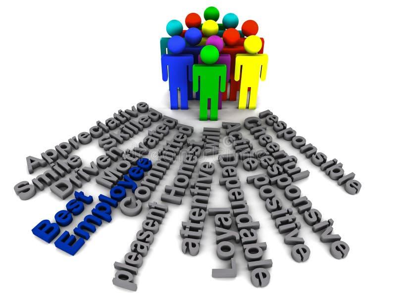 Download Best employee words stock illustration. Image of responsible - 26308478