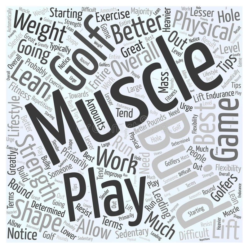 Best Exercise Tips for Golfers word cloud concept background stock illustration
