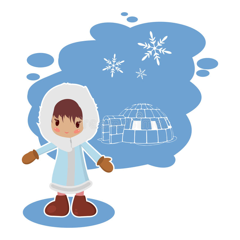Free Best Flat Eskimo Girl Royalty Free Stock Image - 64081166