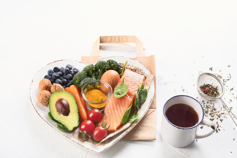 Best food for healthy brain stock photos