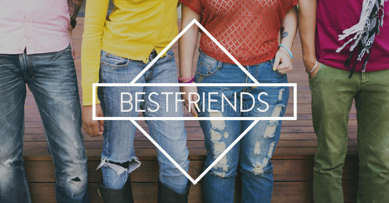 Best Friend Buddies Companionship Togetherness Concept stock photography