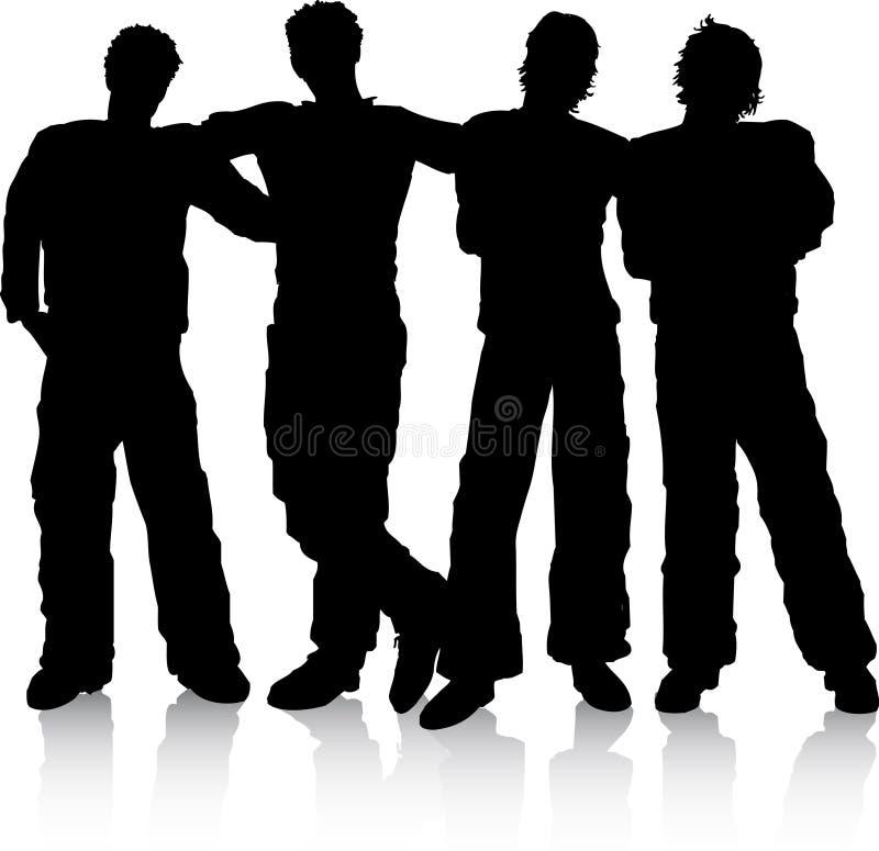 Download Best friends stock vector. Illustration of vector, group - 1827832