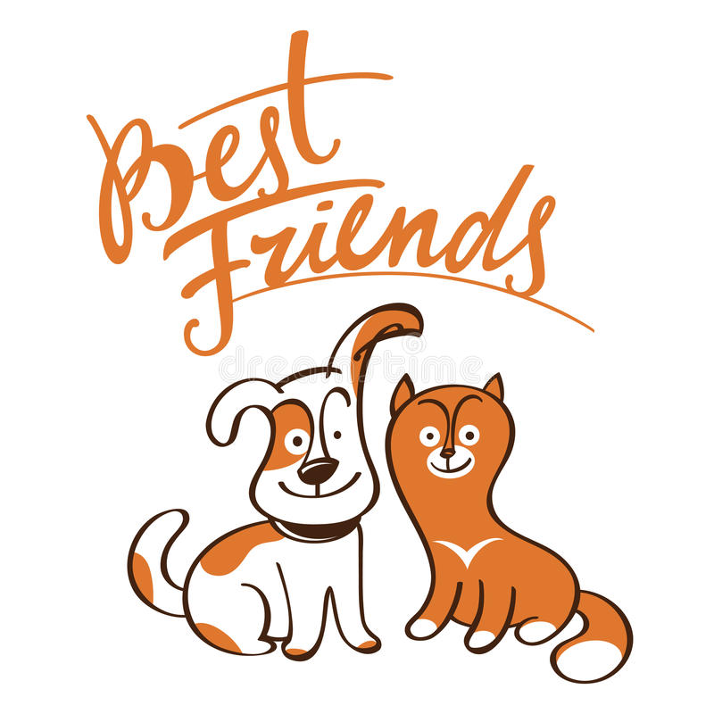 Download Best Friends stock vector. Image of together, love, little - 25837017