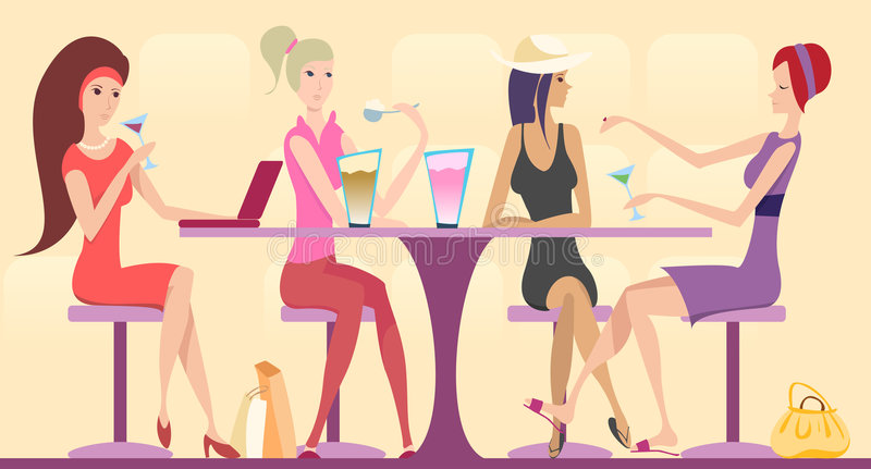 Download Best friends stock vector. Image of table, design, pretty - 6777330