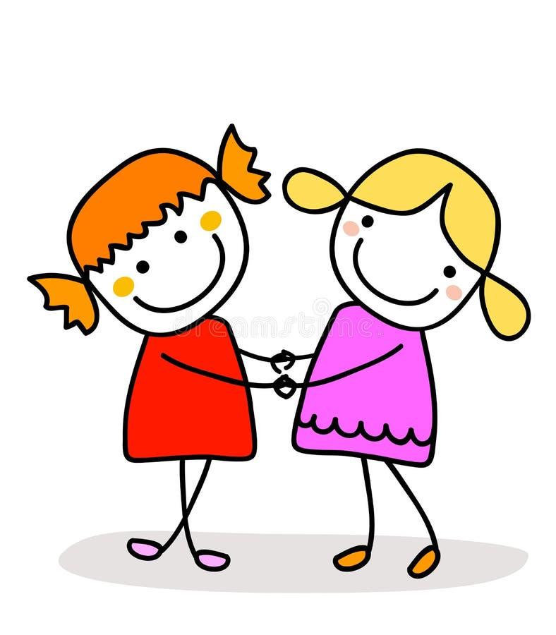 Best friends vector illustration
