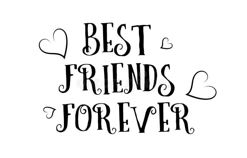 Friends forever design stock vector. Illustration of best ...
