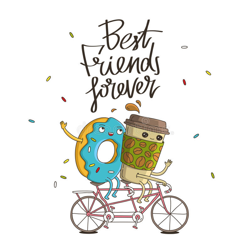 Free Best Friends Forever. The Trend Calligraphy Stock Photos - 74118033