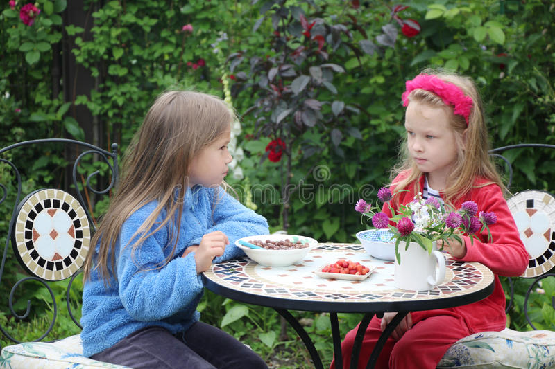 The best friends have a breakfast royalty free stock photo
