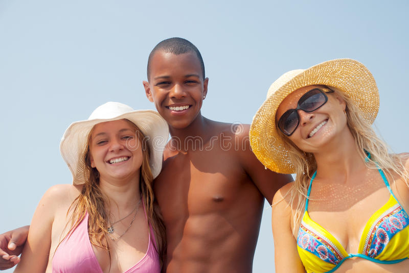 Download Best Friends Having A Laugh On The Beach Royalty Free Stock Image - Image: 17921876