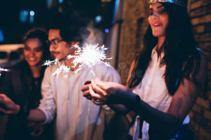 Best friends having a party royalty free stock photo