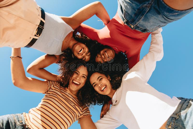 Best friends always keep together stock photos