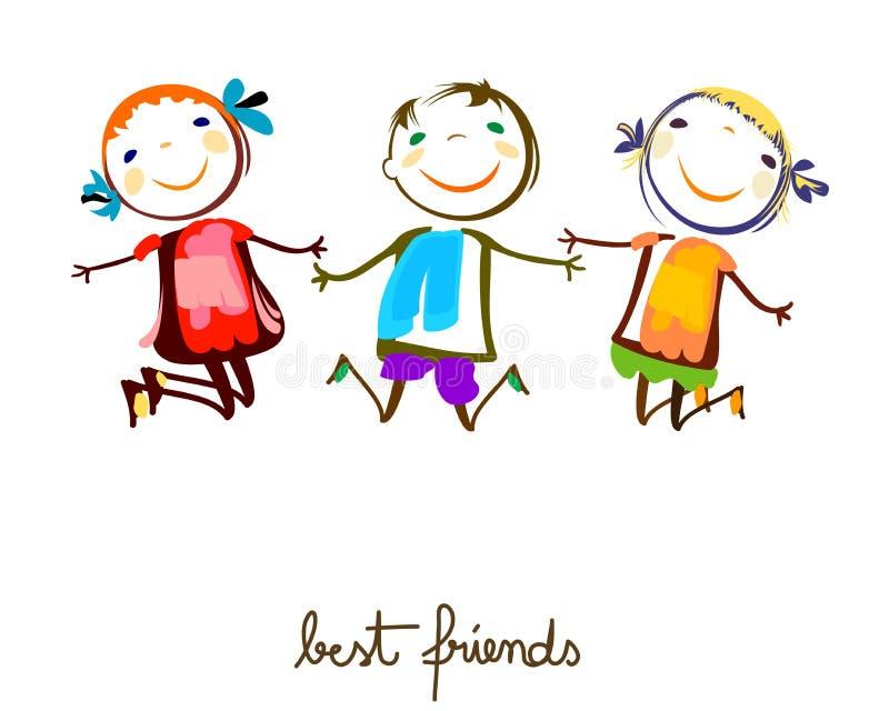 Best friends royalty free illustration