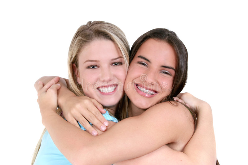 Best Friends Over White Stock Photo