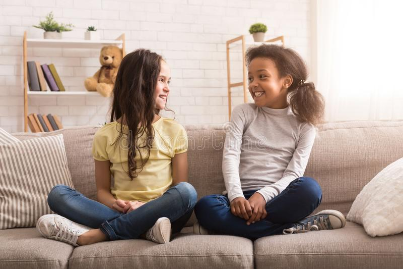 Best friends spending time together at home stock images