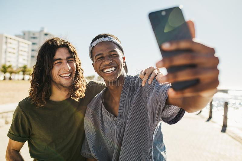 Best friends taking a selfie stock photography