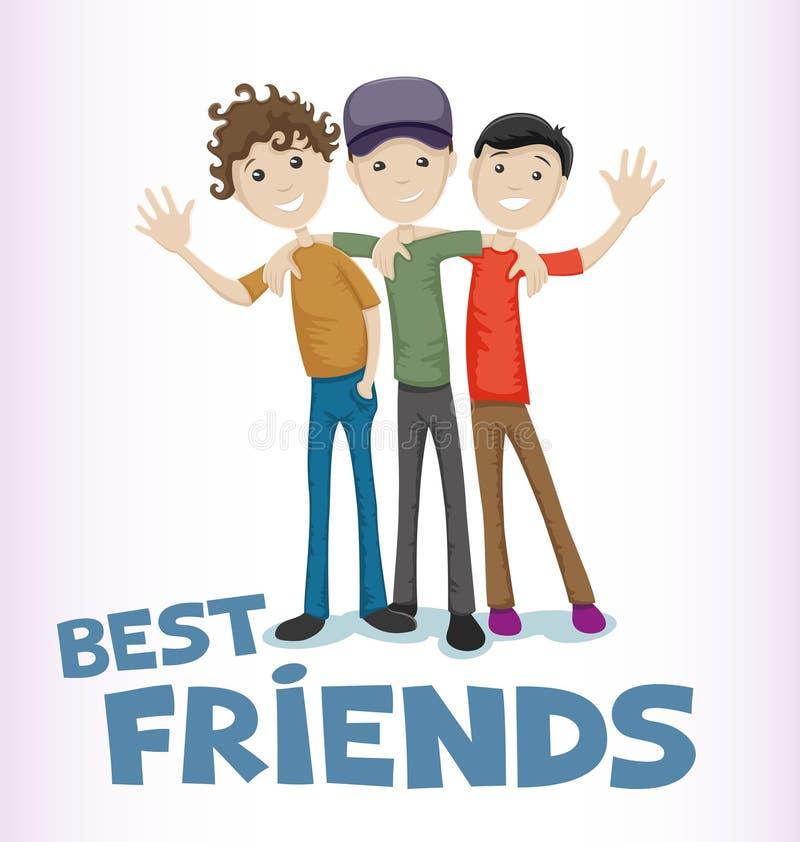 Best friends. vector illustration