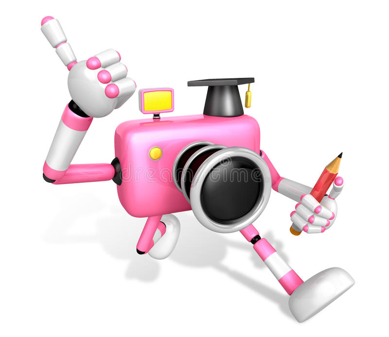 Download The Best Gesture Of The Right Hand Is Taking Master Pink Camera Stock Illustration - Image: 33613793