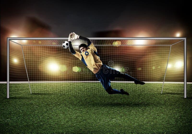 Best goalkeeper royalty free stock photography