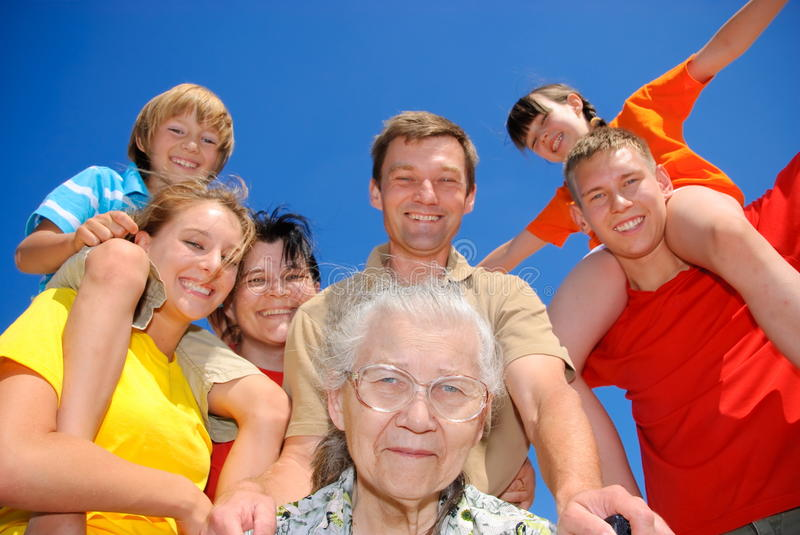 Best grandma. Family together with their best grandma