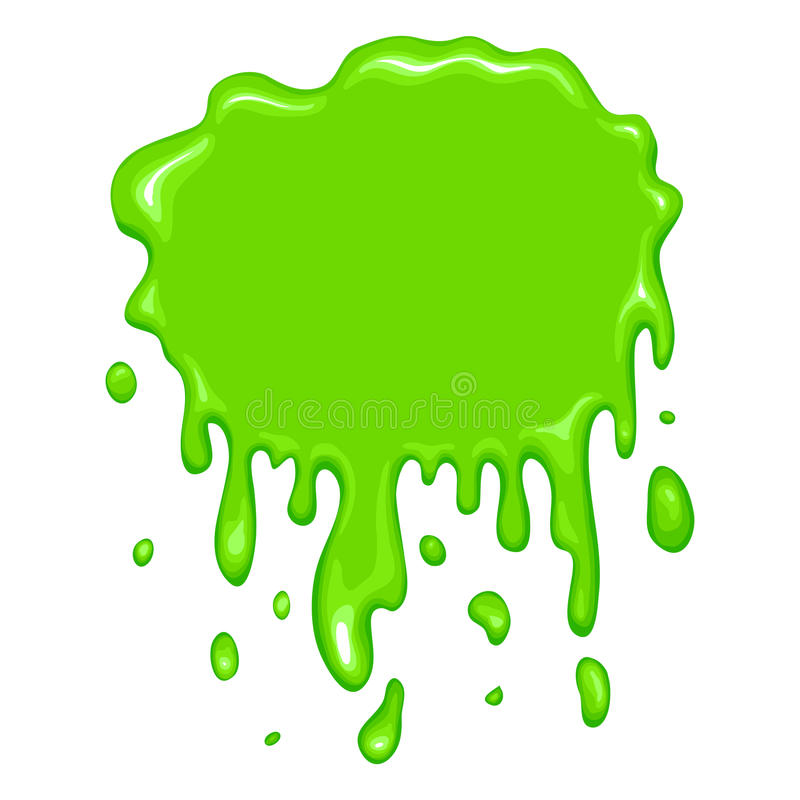 Best green slime icon. Isolated on a white background vector illustration