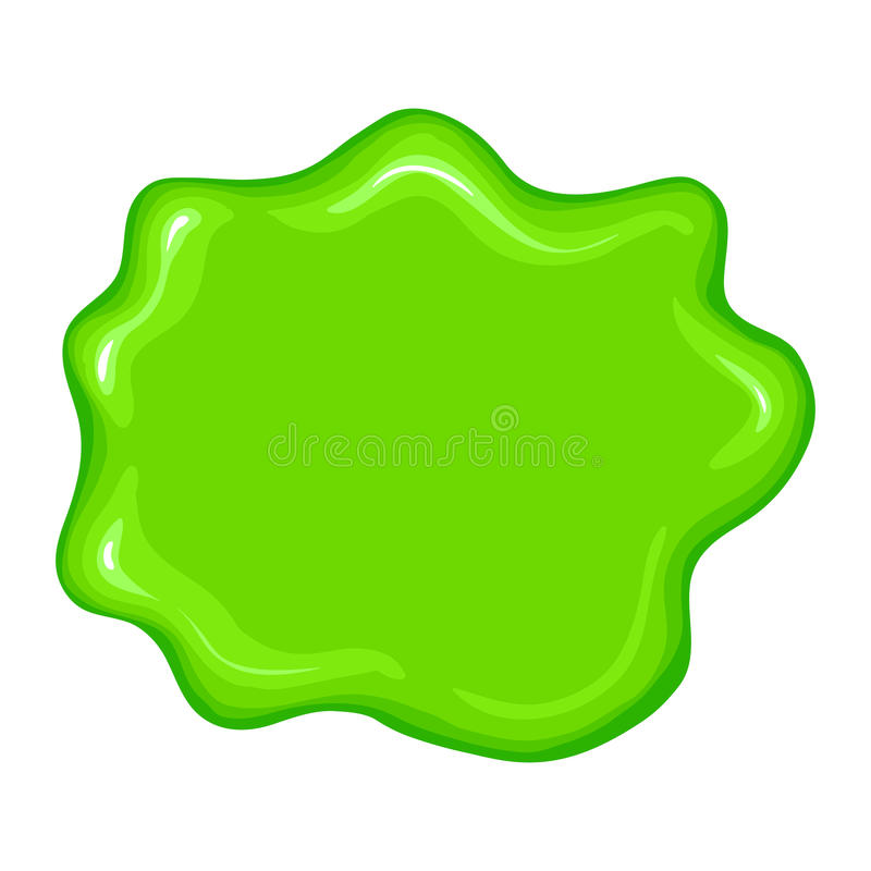 Best green slime sign. Isolated on a white background vector illustration