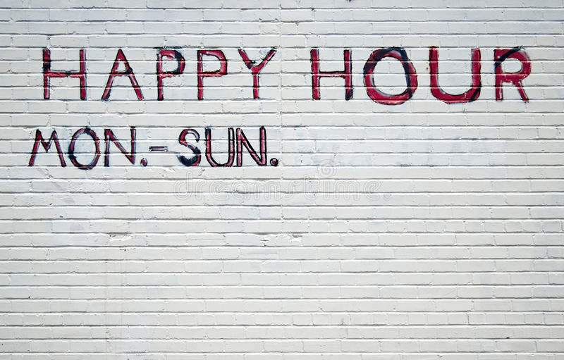 The best happy hour. Everyone's favorite, the never-ending happy hour royalty free illustration
