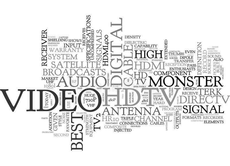 Best Hdtv Word Cloud. BEST HDTV TEXT WORD CLOUD CONCEPT stock illustration
