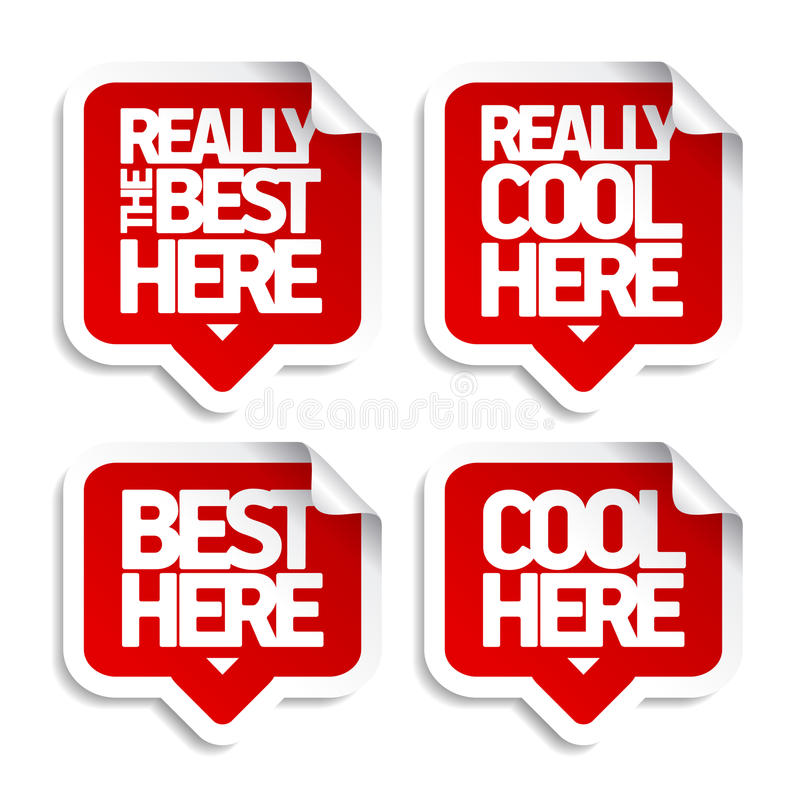 The best here stickers royalty free illustration