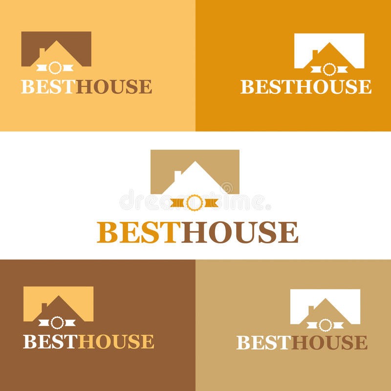 Best house. Real Estate logo. Vector Illustration. stock image