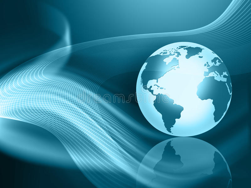 Best Internet Concept of global business from conc royalty free illustration