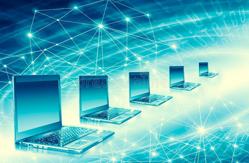 Best Internet Concept of global business from concepts series. Computer mobility, internet communication and cloud stock photography